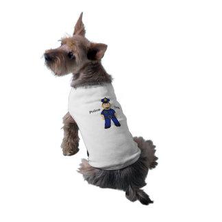 Cute Cartoon Police Officer Pet Shirt