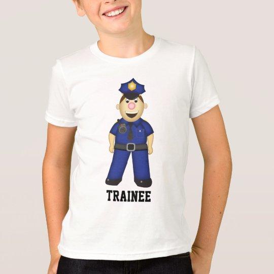 Cute Cartoon Police Officer T-Shirt