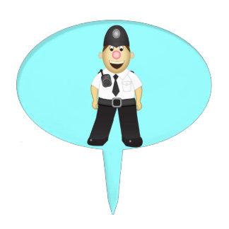 Cute Cartoon Policeman Cake Topper