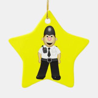 Cute Cartoon Policeman Ceramic Ornament