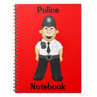 Cute Cartoon Policeman Notebook