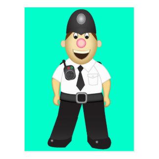 Cute Cartoon Policeman Postcard