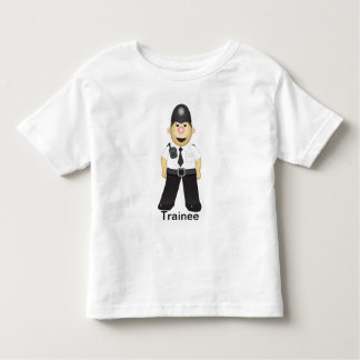 Cute Cartoon Policeman Toddler T-shirt