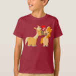 Cute Cartoon Ponies in Love Children T-shirt