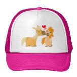 Cute Cartoon Ponies in Love Trucker Hat