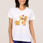 Cute Cartoon Ponies in Love Women T-shirt