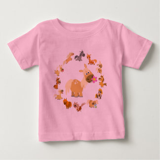 Cute Cartoon Ponies Mandala Baby T-Shirt