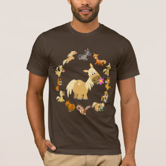 Cute Cartoon Ponies Mandala T-Shirt