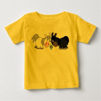 Cute Cartoon Ponies Standoff  Baby T-Shirt
