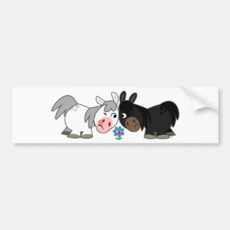 Cute Cartoon Ponies Standoff  Bumper Sticker