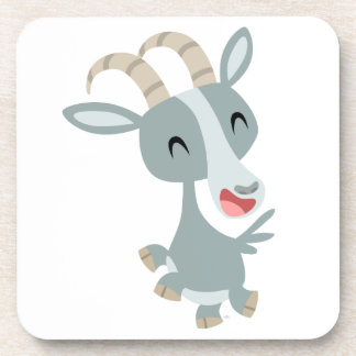Cute Cartoon Prancing Goat Coasters Set