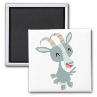 Cute Cartoon Prancing Goat Magnet