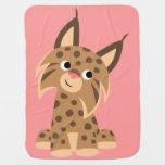Cute Cartoon Prankish Lynx Baby Blanket