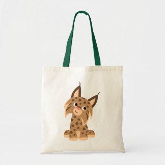 Cute Cartoon Prankish Lynx Bag