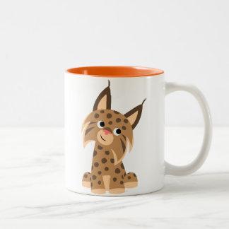 Cute Cartoon Prankish Lynx Mug