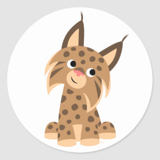 Cute Cartoon Prankish Lynx Sticker