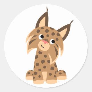 Cute Cartoon Prankish Lynx Sticker