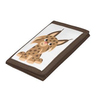 Cute Cartoon Prankish Lynx Wallet