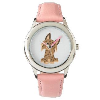 Cute Cartoon Prankish Lynx Watch