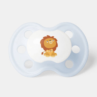 Cute Cartoon Protective Dad Lion Pacifier