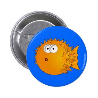Cute Cartoon Puffer Fish Button