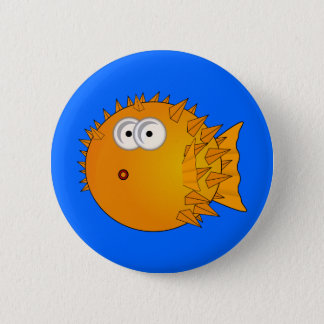 Cute Cartoon Puffer Fish Pinback Button
