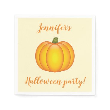 Halloween Themed Cute Cartoon Pumpkin Personalized Halloween Party Napkin