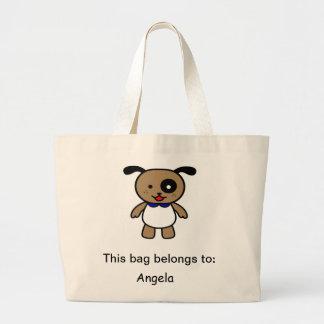 Cute cartoon puppy canvas bag
