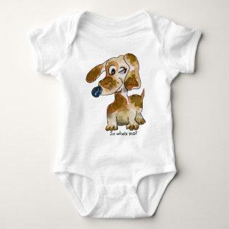 Cute Cartoon Puppy Dogs Baby Baby Bodysuit