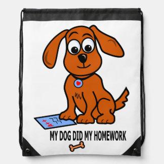 Cute Cartoon Puppy Illustration on Backpack