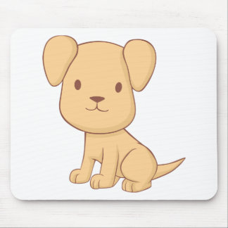 Cute Cartoon Puppy Shirts Mouse Pads