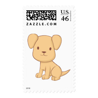 Cute Cartoon Puppy Shirts Postage Stamps