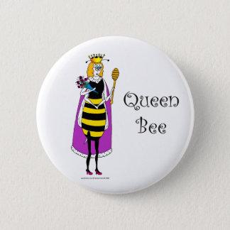Cute cartoon Queen Bee Button