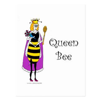 Cute cartoon Queen Bee Postcard