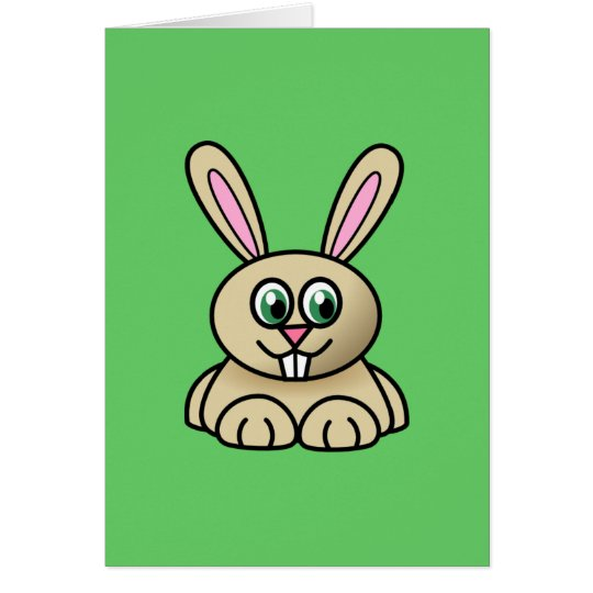 Cute Cartoon Rabbit Card