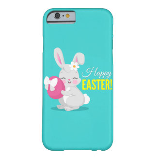 Cute cartoon rabbit girl hugging easter egg barely there iPhone 6 case
