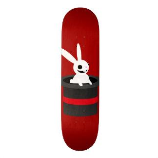 Cute Cartoon Rabbit Hat Maroon Skateboard