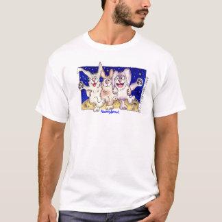 Cute Cartoon Rabbit Moon Bunnies Apparel T-Shirt