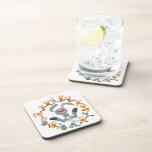 Cute Cartoon Rabbits Mandala Coasters Set Drink Coasters