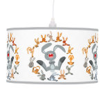 Cute Cartoon Rabbits Mandala Pendant Lamp Pendant Lamps