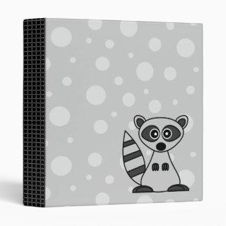 Cute Cartoon Raccoon Binder