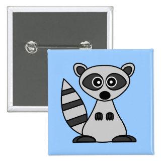 Cute Cartoon Raccoon Button