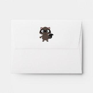 Cute Cartoon Raccoon Envelope