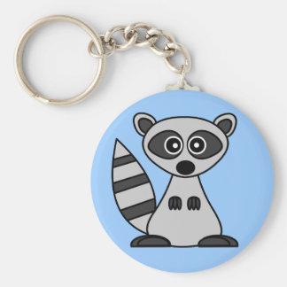 Cute Cartoon Raccoon Keychain