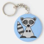 Cute Cartoon Raccoon Keychains
