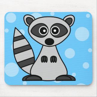 Cute Cartoon Raccoon Mouse Pad