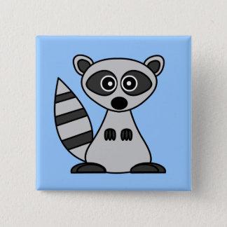 Cute Cartoon Raccoon Pinback Button