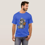 Cute Cartoon Raccoon Playing Violin T-Shirt