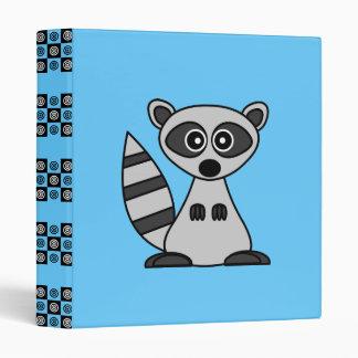 Cute Cartoon Raccoon School Binder