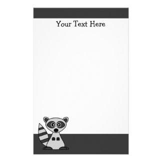 Cute Cartoon Raccoon Stationery
